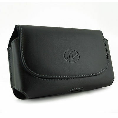 Black Holder Side Case Cover Clip Pouch with Belt Loops for Cellphones
