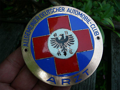 ADAC GERMANY - PHYSICIAN MEMBER DOCTOR / ARZT 1950´s Badge !!!