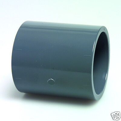 Grey PVC Pressure Straight / Sockets - Pond Pipe Fittings - Solvent Weld
