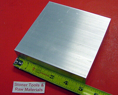 "thick 2x6x6 .Aluminum block Sheet Plate 6061 6.5+/"" x 6.5+/"" 2/"""