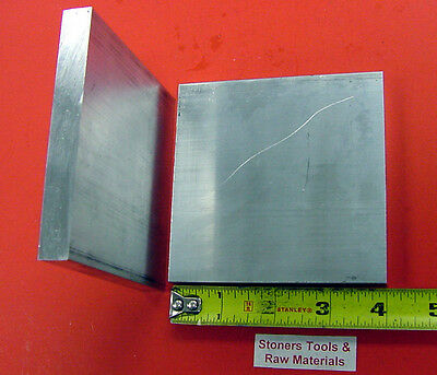 "2 Pieces 1/2"" X 4"" ALUMINUM 6061 T6511 SOLID FLAT BAR 4"" long Plate Mill Stock"