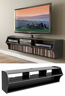 "58"" Altus Floating Wall Mounted Console LCD/LED TV Stand w/AV Shelves NEW"