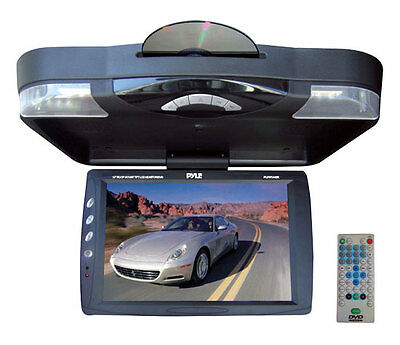 New Pyle PLRD143IF 14.1'' Roof Mount TFT-LCD Monitor w/ Built in DVD Player