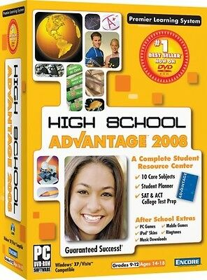 HIGH SCHOOL ADVANTAGE 2008 for PC (DVD-ROM) SEALED NEW