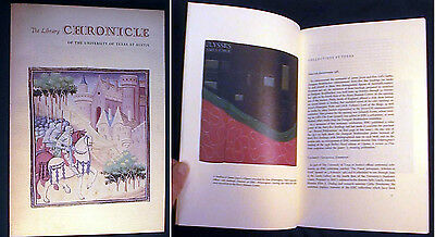 1983 Library Chronicle Gutenberg Knopf Coll. French Manuscript New Acquisitions