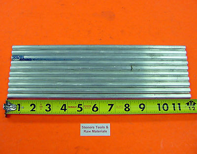 "10 Pieces 3/8"" ALUMINUM 6061 T6511 ROUND ROD 12"" long .375 Lathe Bar Stock Solid"