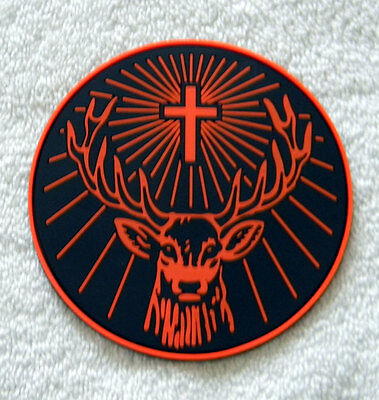 New Jagermeister Embossed Tall Shooter Shot Glass 4 Oz & Rubber Coaster