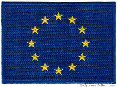 EU FLAG embroidered iron-on PATCH EUROPEAN UNION EMBLEM EUROPE applique