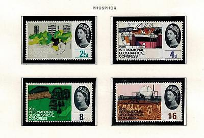 STAMPS COMMEMORATIVE 1964 GEOGRAPHICAL MNH PHOSPHOR SET  CAT£30 PHOS top perfs