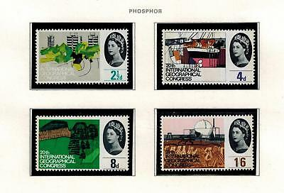 Stamps Commemorative 1964 Geographical Mnh Phosphor Set  Cat£30 Phos