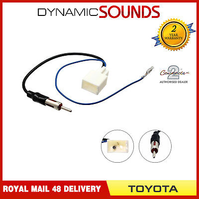 Connects 2 CT27AA78 DIN Aerial Adaptor Antenna Mast For Toyota 2009 Onwards