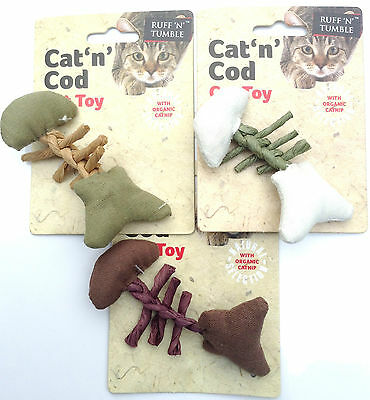 Cat n Cod Organic Catnip Cat Toy made from 100% natural materials. RUFF n TUMBLE