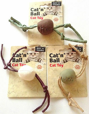 Cat 'n' Ball Organic Catnip Cat Toy made from 100% natural materials.RUFF TUMBLE