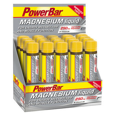 (33,80€/kg) PowerBar Magnesium Liquid 20 Ampullen a´ 25ml, Citrus