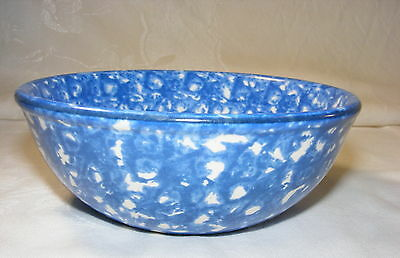 Vintage Pottery Stangl Blue Spongeware Town and Country Cereal Bowl
