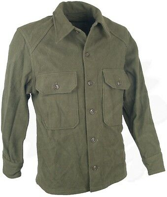 Vintage Wool Field Shirt - Military Issue - RARE - Great for Hunters & Collector