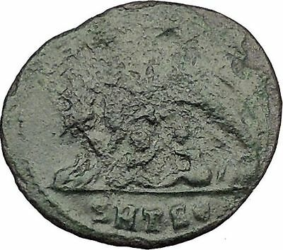 "Constantine I The Great Ancient Roman Coin Romulus & Remus ""Mother"" wolf  i32333"