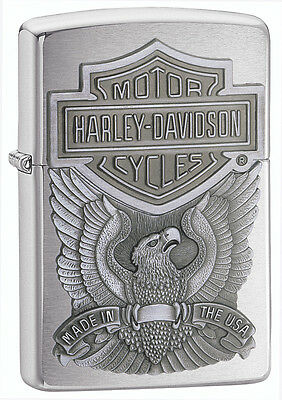 Zippo Lighter Harley D Made in USA Personalised Free