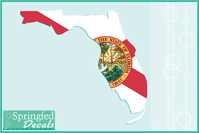 FLORIDA SHAPED STATE FLAG Vinyl Decal Car Truck Window Sticker CUSTOM SIZES!