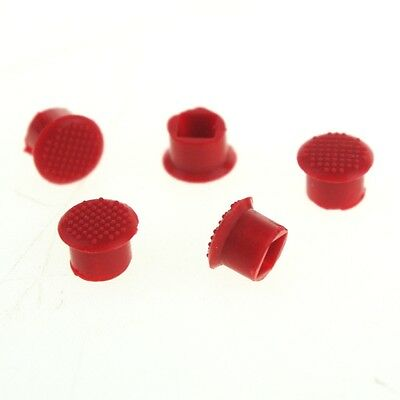 LOT OF 5 Soft TrackPoint Red Stick Cap Keyboard Mouse for IBM Thinkpad X61t X200