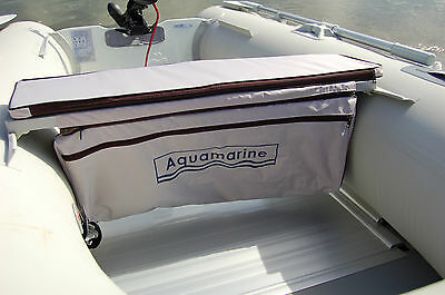 """Underseat stoarge bag with Cushion for inflatable boat  Grey for 12 ft boat 38"""""""