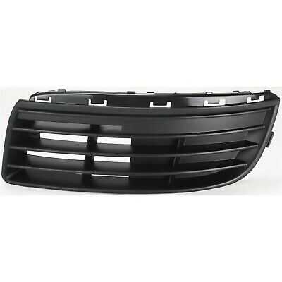 Bumper Grille For 2005-2010 Volkswagen Jetta Driver Side Textured Black Plastic