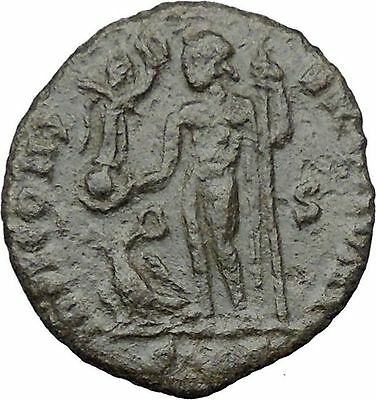 Constantine I The Great 313AD Ancient Roman Coin Nude Jupiter w Victory  i32442