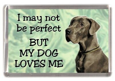 "Great Dane Dog Fridge Magnet No.5.  ""I may not be perfect ........"" by Starprint"
