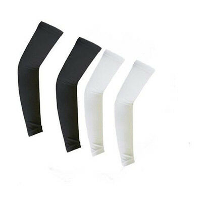 4 pairs Cooling Arm Sleeves Cover UV Sun Protection Basketball Sport White Black