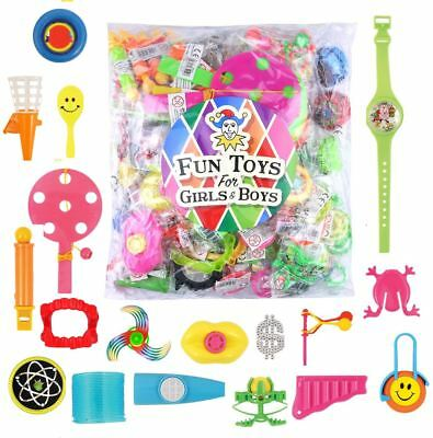 100 Assorted Party Bag Toys Childrens Kids School Gift Party Pinata Fillers Toys