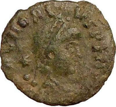 HONORIUS 406AD Authentic Ancient Roman Coin Two soldiers  i22764