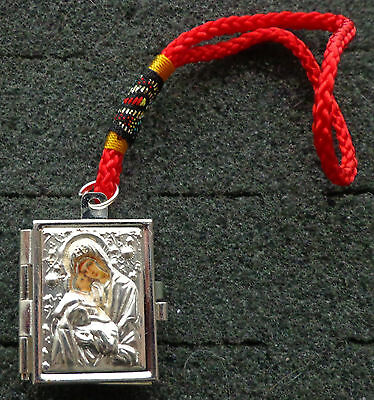 REVERSABLE VIRGIN ICON PRAYER BOX   silver