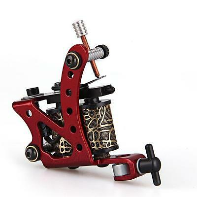 Zinc Alloy Red Tattoo Machine Gun 8 Wrap Coils for Shader Liner