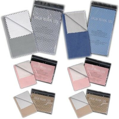 Jewelry and Silver Polishing Cloth Kit of 6 Assorted - FREE Shipping