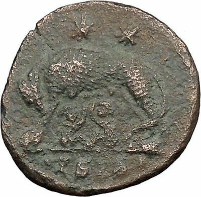 "Constantine I The Great Ancient Roman Coin Romulus & Remus ""Mother"" wolf  i32686"