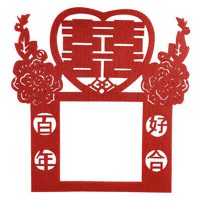 Double Happiness Flower Chinese Character Paper Cut Wall Plate Switch Cover Red
