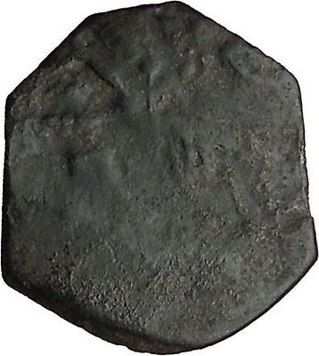 Latin Rulers of Constantinople PossUnpub Half Tetarteron Byzantine Coin i32608