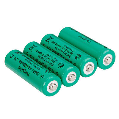 4Pcs TangsFire AA Rechargeable Ni-MH Battery 3300mAh 1.2V Green for Camera