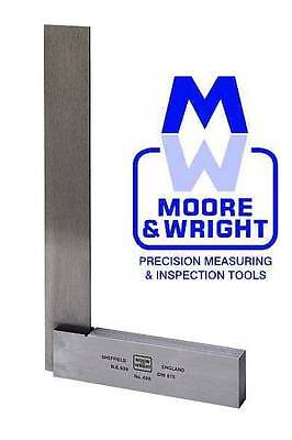 """Moore And Wright 100Mm / 4"""" Engineers Square Mw4004 Myford"""