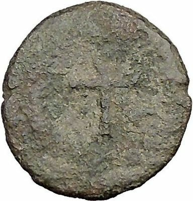 THEODOSIUS II 425AD  Ancient Roman Coin Cross within wreath of success  i32518