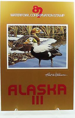 1987 Alaska Duck Stamp Conservation Poster by Carl Branson - Spectacled Eider