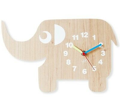 elefanten wanduhr ellie the elephant für kinder holz elefant