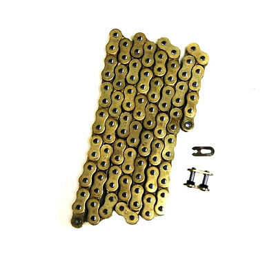 Gold 525x120 O-Ring Drive Chain Motorcycle 525 Pitch 120 Links 8200# Tensile