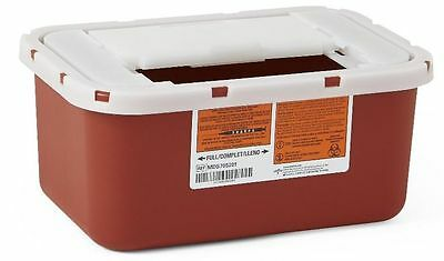 Medline 1 Gallon Biohazard Multipurpose Sharps Disposal Containers 32/Case NEW