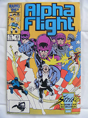 Alpha Flight # 43 Feb 87 Marvel Comics