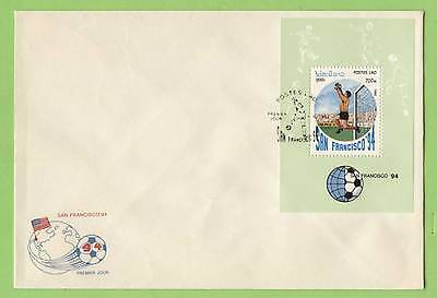 Laos 1994 World Cup Football miniature sheet First Day Cover