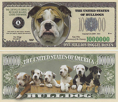 10 Bulldog Bull Dog K-9 Novelty Money Bills #273
