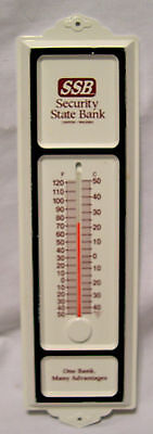 Bank Advertising Thermometer SSB Security State Bank canton Waleska home wall