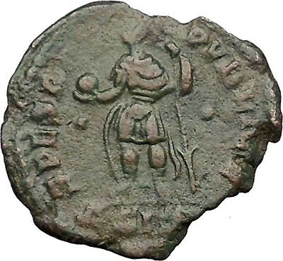 Julian II as Caesar in military dress w globe & spear 355AD Roman Coin i32774