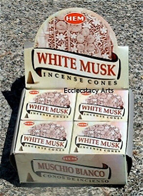 Hem White Musk Incense 10-40-60-80-120 Cones You Pick Amount (:-)